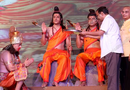 Editorial photo of Dussehra Hindu festival in New Delhi, India - 15 Oct 2021