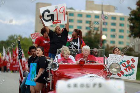 Editorial photo of Indiana University Homecoming Parade in Bloomington, USA - 15 Oct 2021