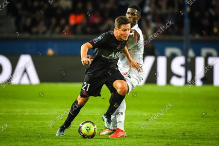 Stock Photo of Ander HERRERA of PSG and Mohamed-Ali CHO of Angers