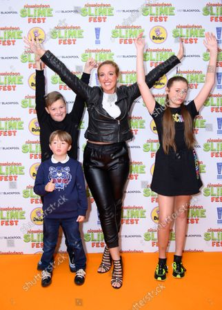 Stock Picture of Paris Fury and family attend Nickelodeon SLIMEFEST, Blackpool Pleasure Beach