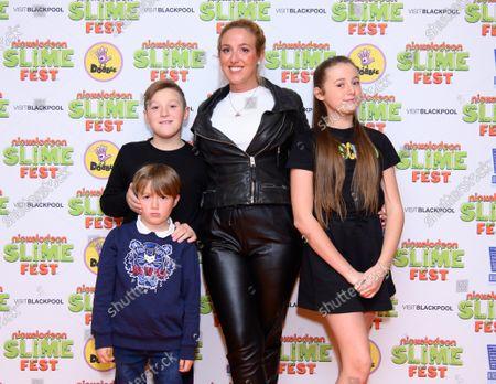Paris Fury and family attend Nickelodeon SLIMEFEST, Blackpool Pleasure Beach