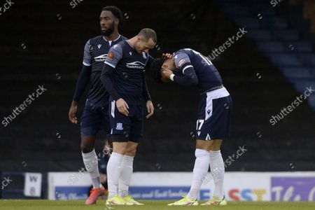 Louis Walsh of Southend United Celebrates scoring their sides fourth goal during FA Cup Fourth Round Qualifying match between Southend United and Chertsey Town at Roots Hall in Southend - 16th October 2021