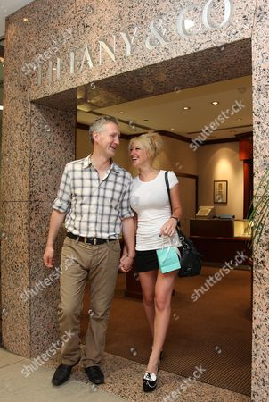 Lembit Opik and girlfriend Merily McGivern shopping for an engagement ring at Tiffany jewellery store in Surfers Paradise