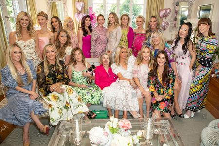Stock Picture of Paris Hilton, Nicky Hilton, Tessa Hilton, Kathy Hilton, Tina Chen Craig, Nancy Davis, Sherry Reum, Halle Reum, Farrah Brittany, Ursula Nesbitt