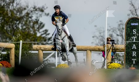 , 2021, Fair Hill, MD, USA: Kurt Agardy Martin (USA), aboard D.A. Lifetime, competes during the Cross Country Test at the 3* level during the Maryland Five-Star at the Fair Hill Special Event Zone in Fair Hill, Maryland on , 2021. Scott Serio/Eclipse Sportswire/CSM