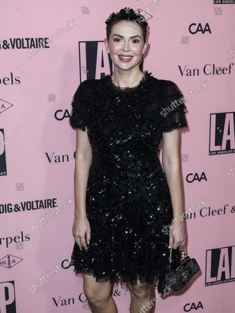 Stock Photo of TV Presenter/actress Carly Steel arrives at the L.A. Dance Project 2021 Gala - Unforgettable Evening Under The Stars held at The Pritzker Estate on October 16, 2021 in Beverly Hills, Los Angeles, California, United States.