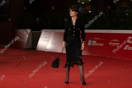Stock Photo of Fanny Ardant attends the red carpet of the movie Les Jeunes Amants (The Young Lovers) during the 16th Rome Film Fest 2021 on October 16, 2021 in Rome, Italy.