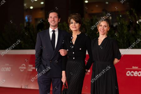 Melvin Poupad, Fanny Ardant and director Carine Tardieu attend the red carpet of the movie Les Jeunes Amants (The Young Lovers) during the 16th Rome Film Fest 2021 on October 16, 2021 in Rome, Italy