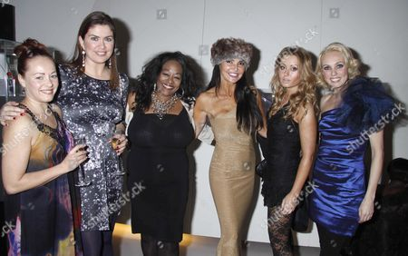 Sarah Cawood, Amanda Lamb, Kym Mazelle, Lizzie Cundy, Sarah Barrand and Camilla Dallarup