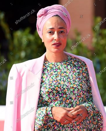 Stock Picture of Zadie Smith poses on the red carpet at the 16th annual Rome International Film Festival, in Rome, Italy, 17 October 2021. The Festa Del Cinema Di Roma runs from 14 to 24 October.