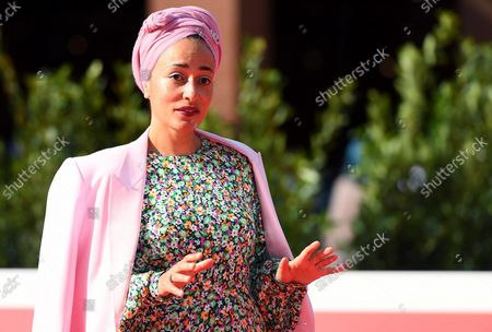 Zadie Smith poses on the red carpet at the 16th annual Rome International Film Festival, in Rome, Italy, 17 October 2021. The Festa Del Cinema Di Roma runs from 14 to 24 October.
