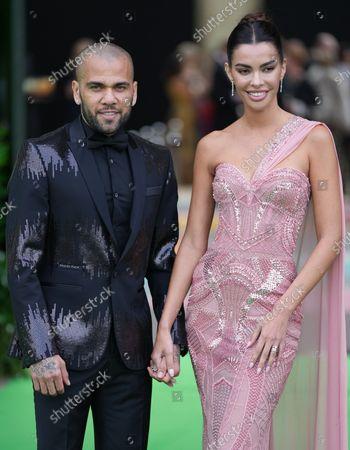 Daniel Alves and Joana Sanz