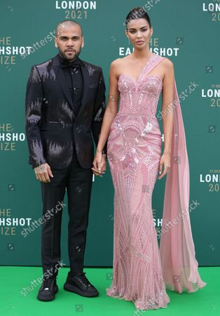 Stock Picture of Daniel Alves and Joana Sanz
