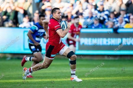 Sean Maitland of Saracens during the Gallagher Premiership Rugby match between Bath Rugby and Saracens at the Recreation Ground, Bath