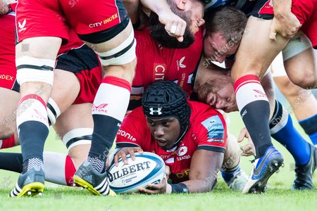 Stock Image of Maro Itoje of Saracens during the Gallagher Premiership Rugby match between Bath Rugby and Saracens at the Recreation Ground, Bath