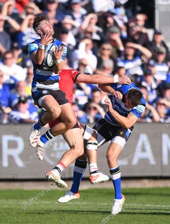 Editorial photo of Bath Rugby v Saracens, Premiership Rugby match, The Recreation Ground, Bath, UK - 17 Oct 2021