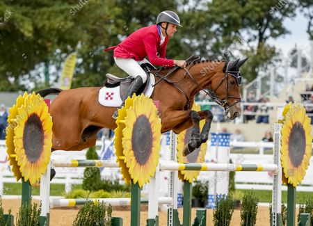 Editorial picture of Equestrian Star Eventing Cross Country, Fair Hill, USA - 17 Oct 2021