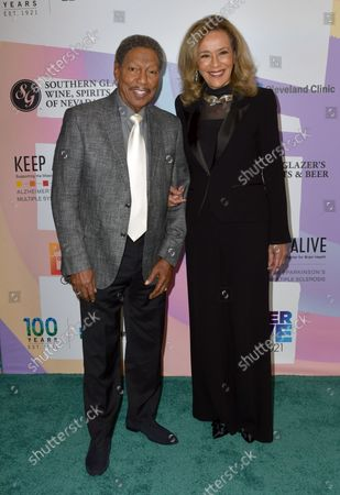 """Billy Davis Jr. and Marilyn McCoo at Keep Memory Alive's 25th Annual Power Of Love Gala honoring Smokey Robinson and Kenny """" Kenneth Babyface Edmonds """" Edmonds at Resorts World Las Vegas in Las Vegas, Nevada on October 16, 2021."""