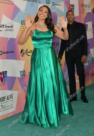 """Jordin Sparks at Keep Memory Alive's 25th Annual Power Of Love Gala honoring Smokey Robinson and Kenny """" Kenneth Babyface Edmonds """" Edmonds at Resorts World Las Vegas in Las Vegas, Nevada on October 16, 2021."""