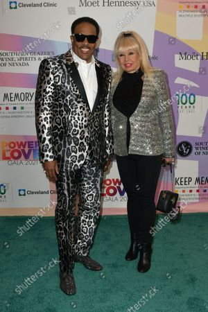 """Charlie Wilson and Mahin Wilson at Keep Memory Alive's 25th Annual Power Of Love Gala honoring Smokey Robinson and Kenny """" Kenneth Babyface Edmonds """" Edmonds at Resorts World Las Vegas in Las Vegas, Nevada on October 16, 2021."""