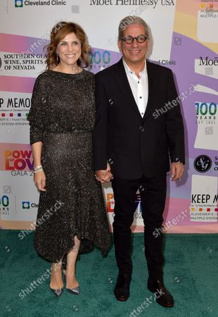 """Stock Image of Kristie Nicolosi and Steven Lagos at Keep Memory Alive's 25th Annual Power Of Love Gala honoring Smokey Robinson and Kenny """" Kenneth Babyface Edmonds """" Edmonds at Resorts World Las Vegas in Las Vegas, Nevada on October 16, 2021."""