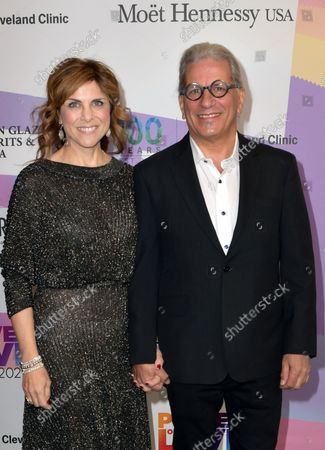 """Stock Photo of Kristie Nicolosi and Steven Lagos at Keep Memory Alive's 25th Annual Power Of Love Gala honoring Smokey Robinson and Kenny """" Kenneth Babyface Edmonds """" Edmonds at Resorts World Las Vegas in Las Vegas, Nevada on October 16, 2021."""