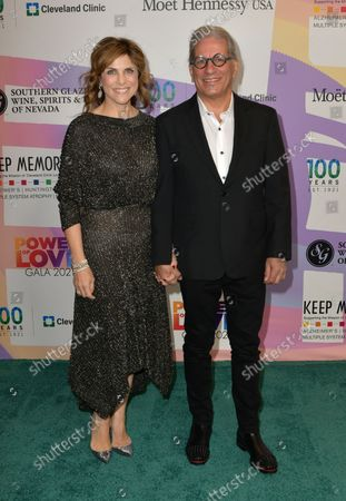"""Kristie Nicolosi and Steven Lagos at Keep Memory Alive's 25th Annual Power Of Love Gala honoring Smokey Robinson and Kenny """" Kenneth Babyface Edmonds """" Edmonds at Resorts World Las Vegas in Las Vegas, Nevada on October 16, 2021."""
