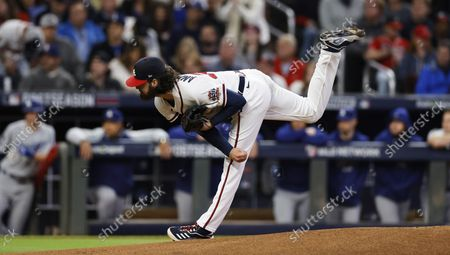 Editorial picture of Los Angeles Dodgers at Atlanta Braves, USA - 17 Oct 2021