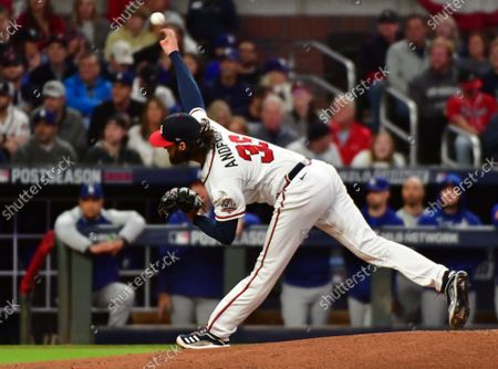 Editorial photo of MLB Nlcs Braves Dodgers, Atlanta, Georgia, United States - 17 Oct 2021