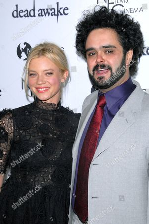 Amy Smart and Omar Naim