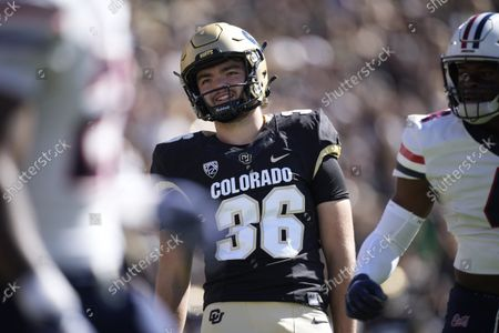 Editorial picture of Arizona Colorado Football, Boulder, United States - 16 Oct 2021