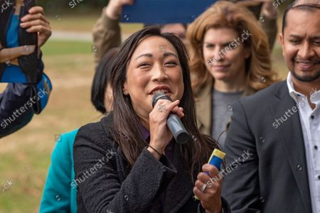 Editorial image of Linda Lee General Election Kickoff Rally in New York, US - 17 Oct 2021