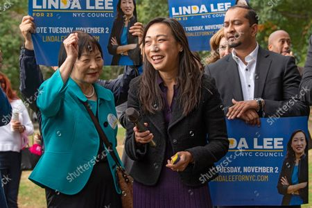 Editorial picture of Linda Lee General Election Kickoff Rally in New York, US - 17 Oct 2021