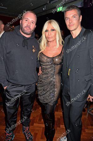 Stock Picture of Kim Jones, Donatella Versace and Jacob K
