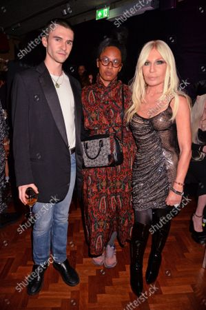 Stock Photo of Conner Ives, Anthea Hamilton and Donatella Versace