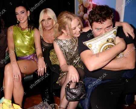 Dua Lipa, Donatella Versace, Kylie Minogue and Mert Alas