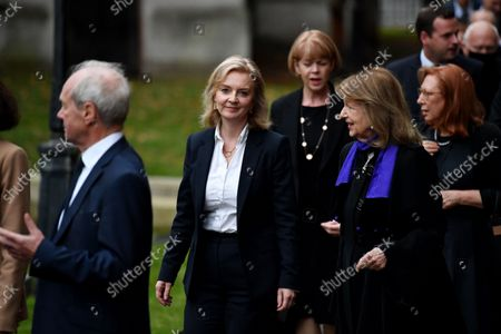 Liz Truss, Foreign Secretary, attends a Service of Remembrance for Sir David Amess at St Margaret's Church, Westminster