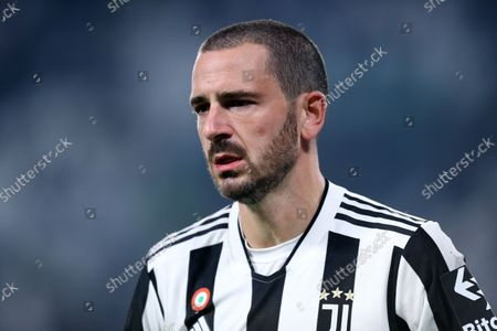 Stock Photo of Leonardo Bonucci of Juventus Fc looks on during the Serie A match between Juventus Fc and As Roma.