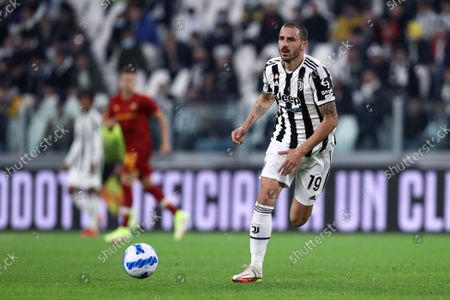 Leonardo Bonucci of Juventus Fc in action during the Serie A match between Juventus Fc and As Roma.
