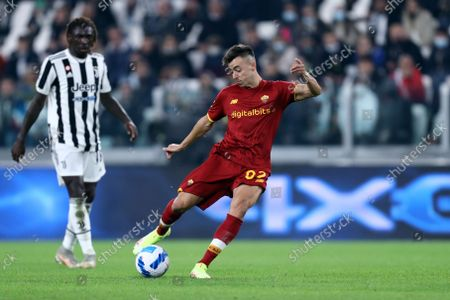 Stephan El Shaarawy of As Roma in action during the Serie A match between Juventus Fc and As Roma.