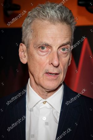 Stock Picture of Peter Capaldi poses for photographers upon arrival at the premiere of the film 'Benediction' during the 2021 BFI London Film Festival in London