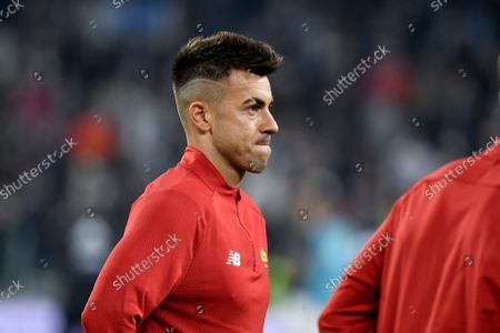 Stephan El Shaarawy of AS Roma warms up
