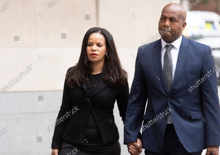 Stock Picture of MP Claudia Webbe arrives at Westminster Magistrates Court, with her partner Lester Thomas, where her harassment trial continues.