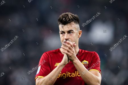 Roma forward Stephan El Shaarawy (92) gestures during the Serie A football match n.8 JUVENTUS - ROMA on October 17, 2021 at the Allianz Stadium in Turin, Piedmont, Italy. Final result: Juventus-Roma 1-0.