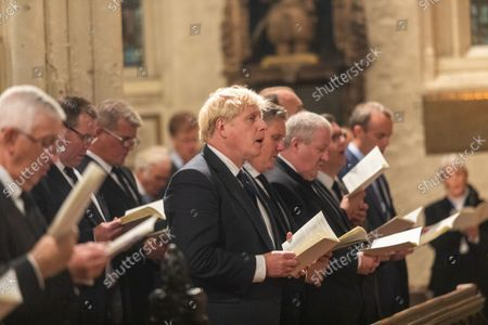 A Service of Prayer and Remembrance for Sir David Amess MP was held at St. Margaret's Church, Westminster Abbey, London..The service was conducted by The Reverend Anthony Ball, Rector of St. Margaret's Church.PRIME MINISTER Boris Johnson AND THE LEADER OF THE OPPOSITION SIR KEIR STARMERAND SNP WESTMINSTER LEADER Ian Blackford.