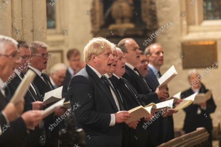 A Service of Prayer and Remembrance for Sir David Amess MP was held at St. Margaret's Church, Westminster Abbey, London..The service was conducted by The Reverend Anthony Ball, Rector of St. Margaret's Church.PRIME MINISTER Boris Johnson AND THE LEADER OF THE OPPOSITION SIR Keir Starmer (PARTLY HIDDEN) AND SNP WESTMINSTER LEADER Ian Blackford.