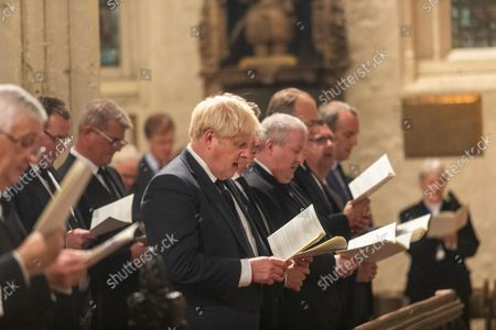A Service of Prayer and Remembrance for Sir David Amess MP was held at St. Margaret's Church, Westminster Abbey, London..The service was conducted by The Reverend Anthony Ball, Rector of St. Margaret's Church.PRIME MINISTER Boris Johnson AND THE LEADER OF THE OPPOSITION SIR Keir Starmer (HIDDEN) AND SNP WESTMINSTER LEADER Ian Blackford.