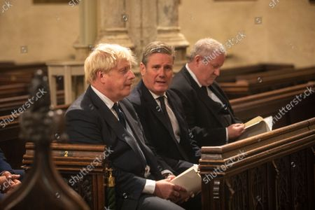 A Service of Prayer and Remembrance for Sir David Amess MP was held at St. Margaret's Church, Westminster Abbey, London..The service was conducted by The Reverend Anthony Ball, Rector of St. Margaret's Church.PRIME MINISTER Boris Johnson AND THE LEADER OF THE OPPOSITION SIR Keir Starmer AND SNP WESTMINSTER LEADER Ian Blackford.