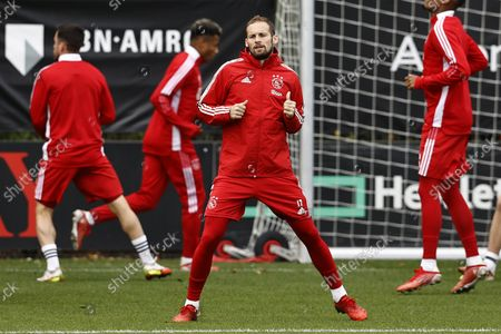 Daley Blind of Ajax during a training session ahead of the Champions League match against Borussia Dortmund at the Johan Cruijff arena on October 18, 2021 in Amsterdam, Netherlands.
