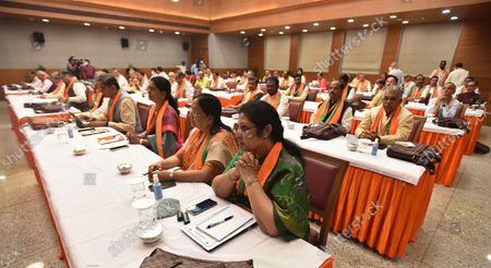 Editorial image of BJP Office-Bearers Meet Ahead Of Assembly Polls, New Delhi, Delhi, India - 18 Oct 2021